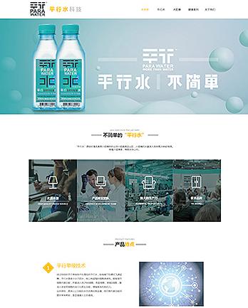 东莞市平行水科技有限公司网站案例 (所属行业:食品饮料、蔬果、茶酒)