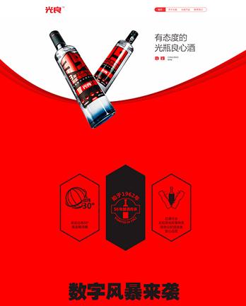 四川光良酿酒有限公司网站案例 (所属行业:食品饮料、蔬果、茶酒)